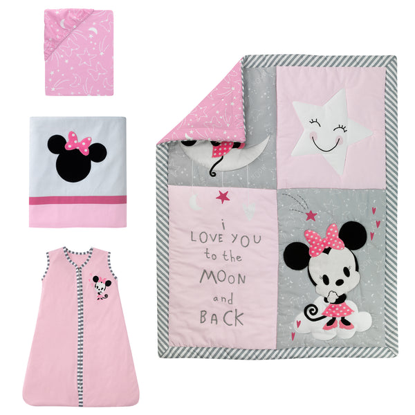 Minnie Mouse 4-Piece Crib Bedding Set by Lambs & Ivy