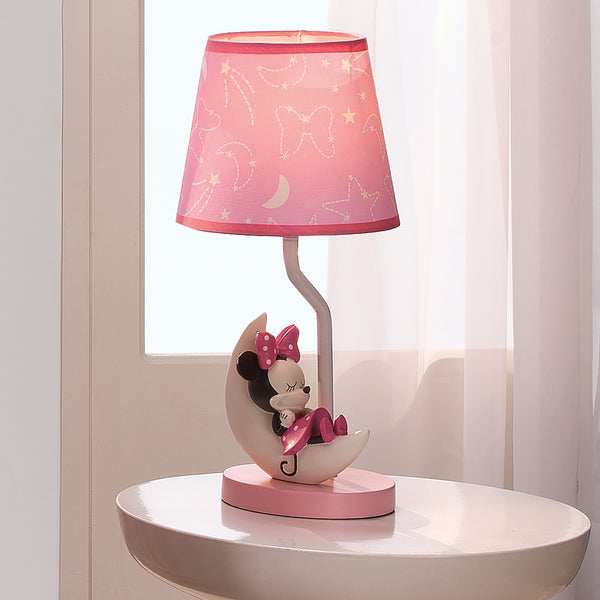 disney baby minnie mouse pink celestial lamp with shade bulb. Black Bedroom Furniture Sets. Home Design Ideas
