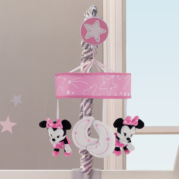 Minnie Mouse Musical Baby Crib Mobile - Lambs & Ivy