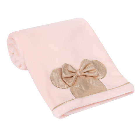 MINNIE MOUSE Appliqued Baby Blanket by Lambs & Ivy