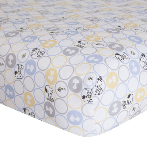 My Little Snoopy™ Fitted Crib Sheet - Lambs & Ivy