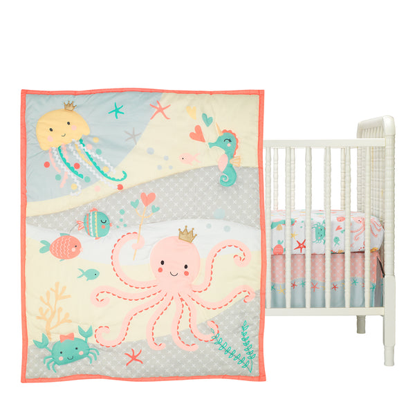 Ocean Mist 3-Piece Crib Bedding Set - Lambs & Ivy