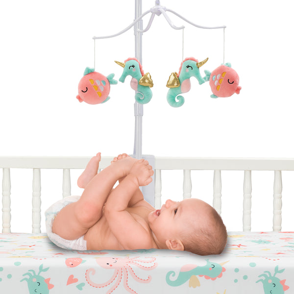 Ocean Mist Musical Baby Crib Mobile by Bedtime Originals