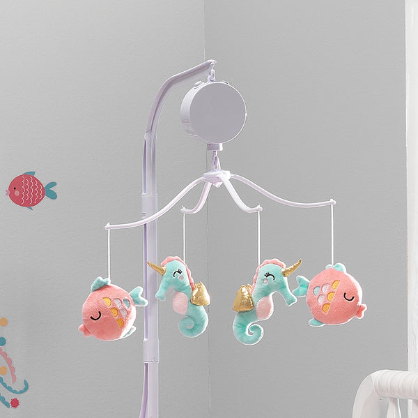 Ocean Mist Musical Baby Crib Mobile - Lambs & Ivy