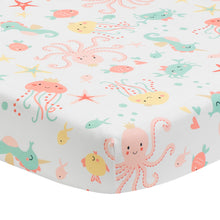 Ocean Mist Fitted Crib Sheet by Bedtime Originals