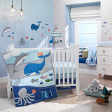 Ocean Blue 4-Piece Baby Crib Bedding Set - Lambs & Ivy