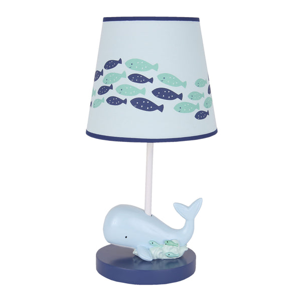 Oceania Lamp with Shade & Bulb by Lambs & Ivy