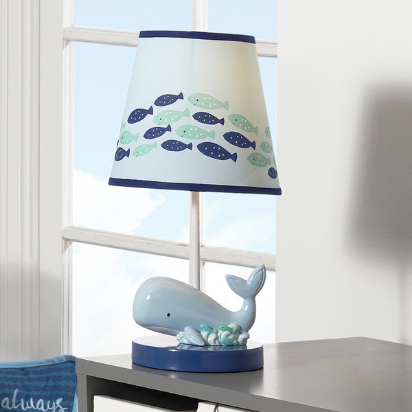 Oceania Lamp with Shade & Bulb - Lambs & Ivy