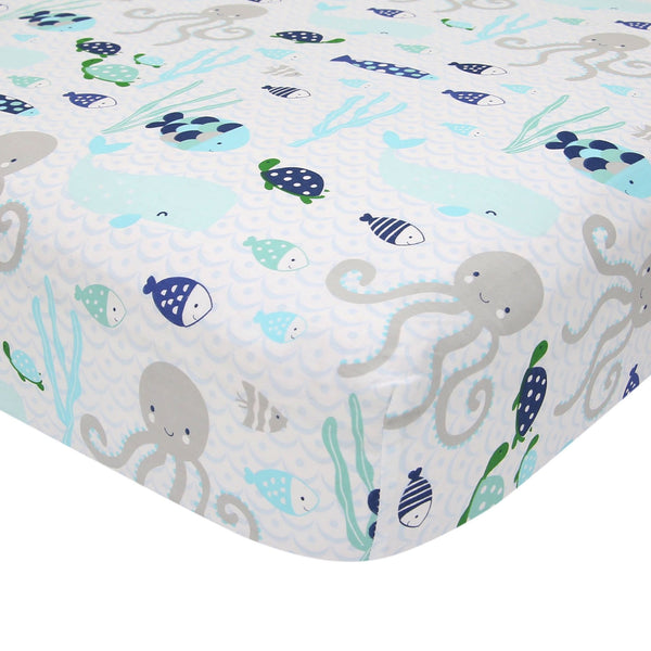 Oceania Cotton Fitted Crib Sheet by Lambs & Ivy