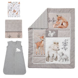 Painted Forest 4-Piece Crib Bedding Set - Lambs & Ivy