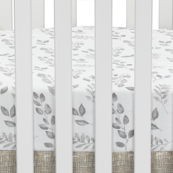 Painted Forest Cotton Fitted Crib Sheet by Lambs & Ivy