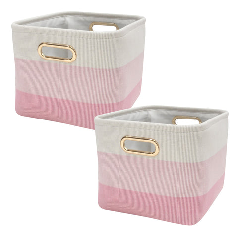 Pink Ombre Storage Basket - 2 Pack - Lambs & Ivy