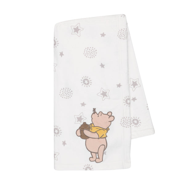 WINNIE THE POOH Appliqued Baby Blanket by Lambs & Ivy