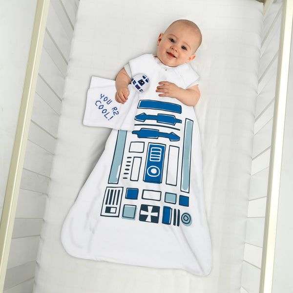 Star Wars R2D2 Wearable Blanket & Lovey Gift Set by Lambs & Ivy