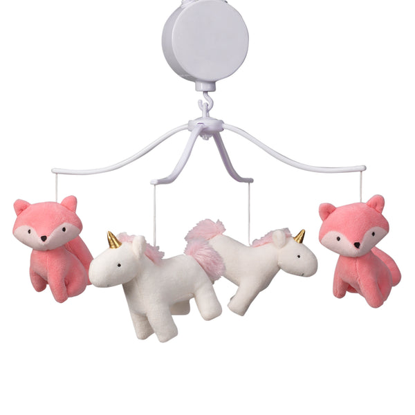 Rainbow Unicorn Musical Baby Crib Mobile - Lambs & Ivy