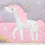 Rainbow Unicorn 3-Piece Crib Bedding Set - Lambs & Ivy