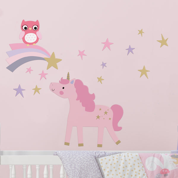 Rainbow Unicorn Wall Decals - Lambs & Ivy
