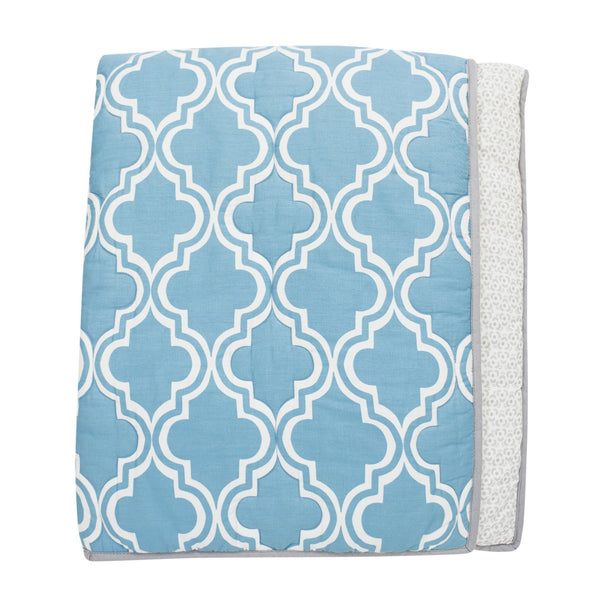Ryan Collection Reversible Coverlet Quilt - Lambs & Ivy