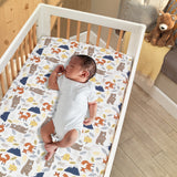Sierra Sky Cotton Fitted Crib Sheet by Lambs & Ivy