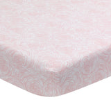 Signature Floral Bud Organic Cotton Fitted Crib Sheet by Lambs & Ivy