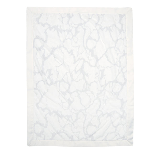 Signature Gray Marble Baby Blanket - Lambs & Ivy