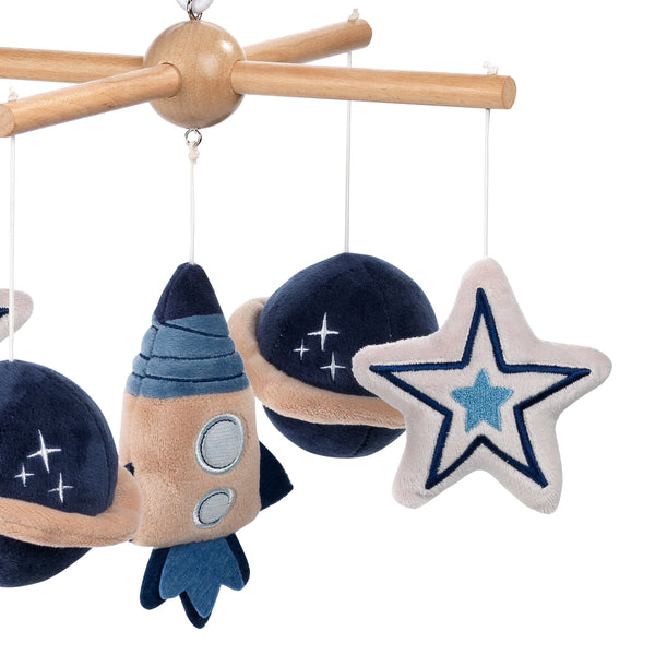 Sky Rocket Musical Baby Crib Mobile by Lambs & Ivy