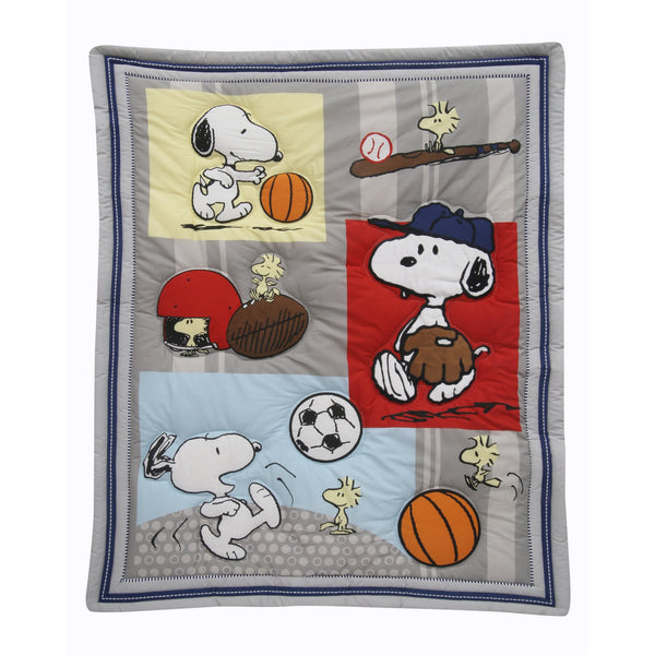 Snoopy™ Sports 3-Piece Crib Bedding Set by Bedtime Originals