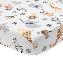 Sports Fan Cotton Fitted Crib Sheet by Lambs & Ivy