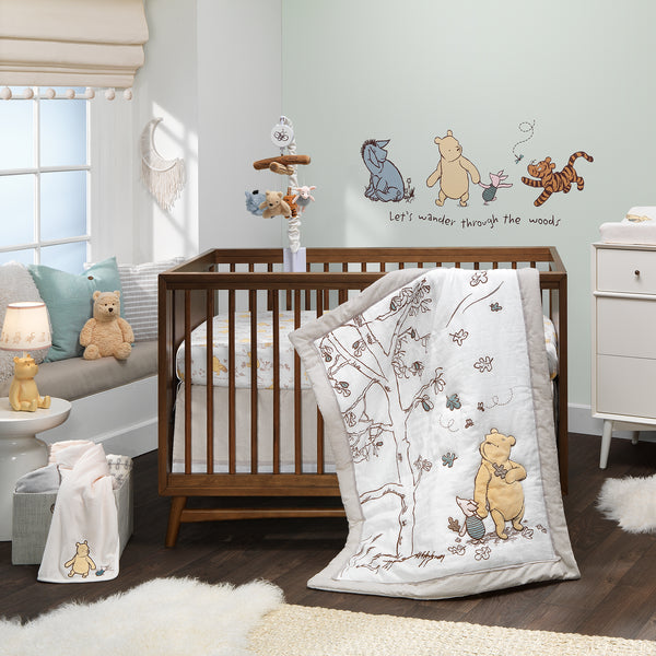 Storytime Pooh Cotton Fitted Crib Sheet by Lambs & Ivy