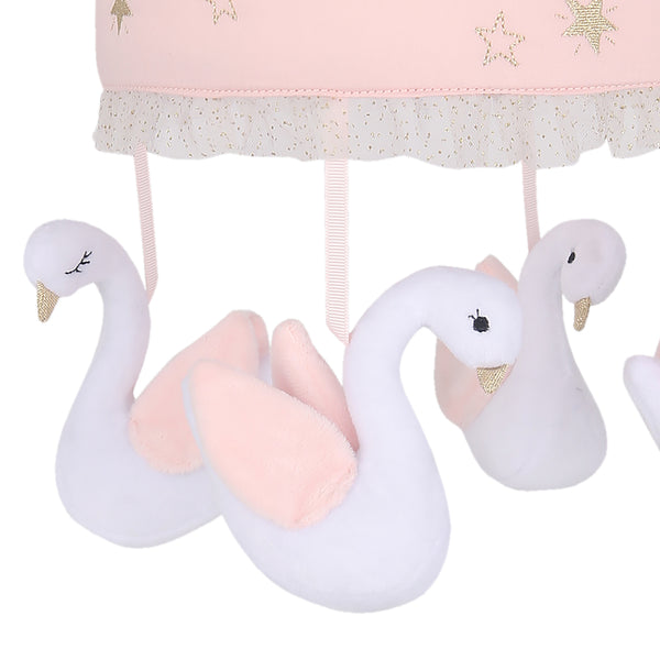 Signature Swan Princess Musical Baby Crib Mobile by Lambs & Ivy