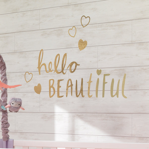 Hello Beautiful Wall Decals by Lambs & Ivy