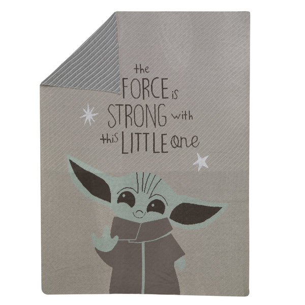 Star Wars Baby Yoda Knit Baby Blanket by Lambs & Ivy