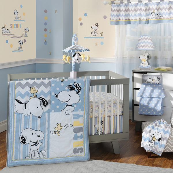 My Little Snoopy™ 4-Piece Crib Bedding Set - Lambs & Ivy