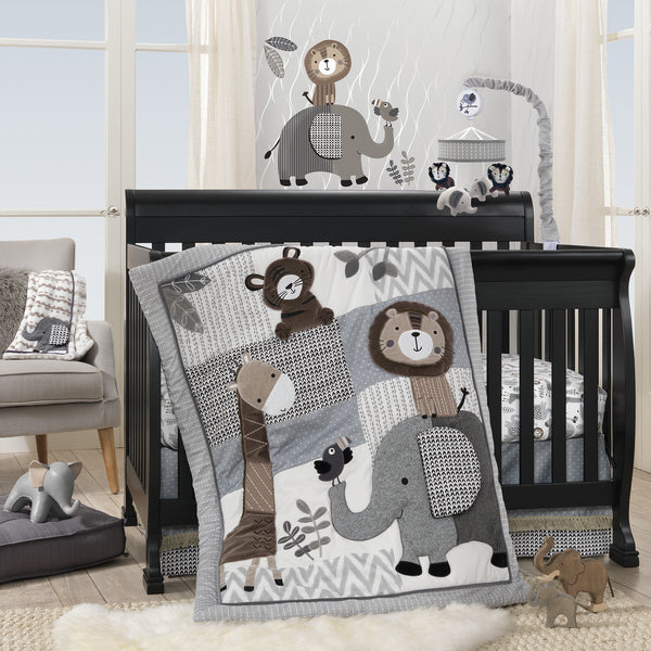 Urban Jungle Fitted Crib Sheet by Lambs & Ivy