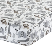 Urban Jungle Animal Fitted Crib Sheet by Lambs & Ivy