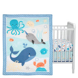 Whales Tales 3-Piece Crib Bedding Set by Bedtime Originals