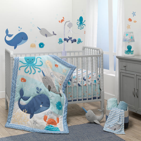 Whales Tale Musical Baby Crib Mobile by Bedtime Originals