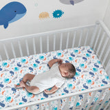 Whales Tale Fitted Crib Sheet by Bedtime Originals