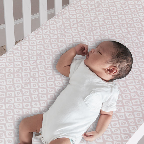 Signature Tribal Geo Organic Cotton Fitted Crib Sheet by Lambs & Ivy