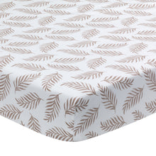 Signature Leaf Print Organic Cotton Fitted Crib Sheet - Lambs & Ivy