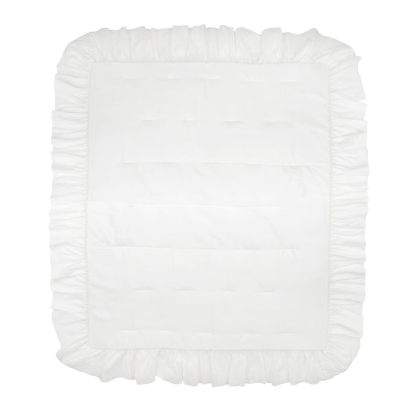 Signature White Cotton Ruffle Quilt by Lambs & Ivy