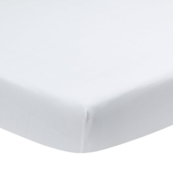Signature White Organic Cotton Fitted Crib Sheet - Lambs & Ivy