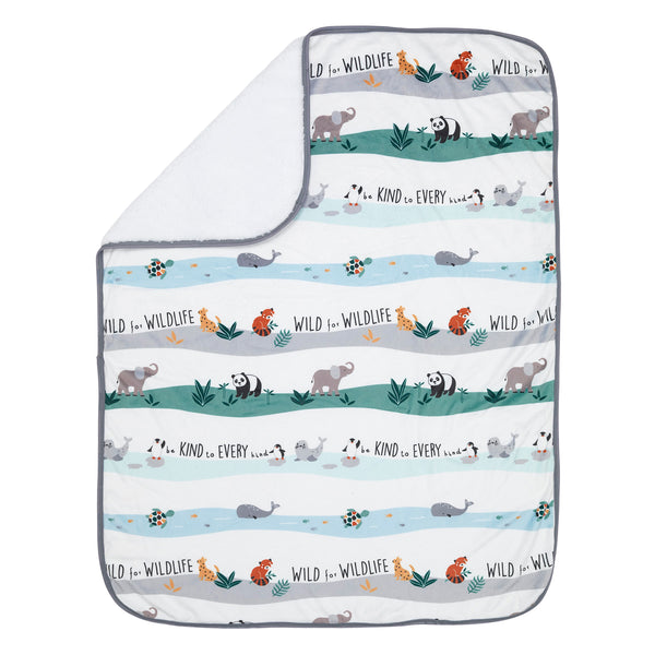 Wild Life Baby Blanket by Lambs & Ivy