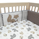 Woodland Forest 4-Piece Baby Crib Bumper - Lambs & Ivy
