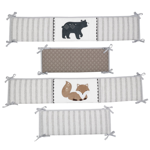 Woodland Forest 4-Piece Baby Crib Bumper by Lambs & Ivy