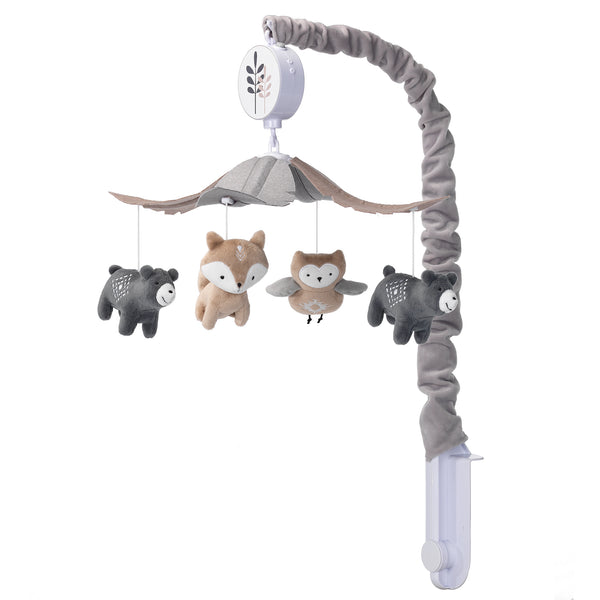 Woodland Forest Musical Baby Crib Mobile - Lambs & Ivy