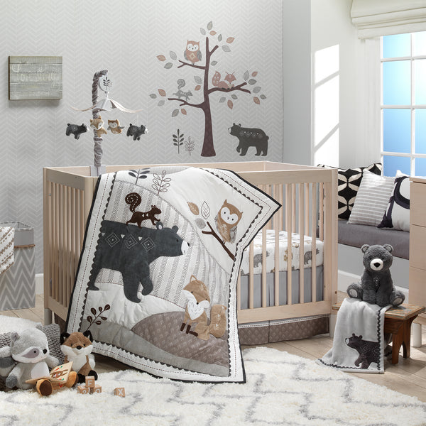 Woodland Forest Musical Baby Crib Mobile by Lambs & Ivy