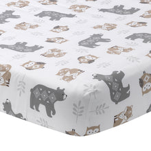 Woodland Forest Cotton Fitted Crib Sheet by Lambs & Ivy