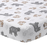 Woodland Forest Cotton Fitted Crib Sheet - Lambs & Ivy