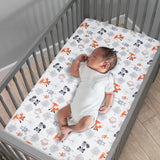 Woodland Friends Fitted Crib Sheet by Bedtime Originals